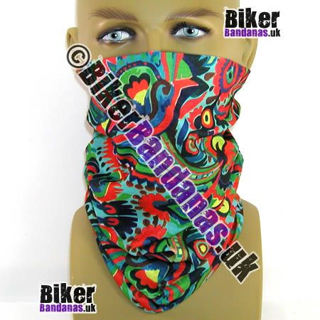 Primary Flowers Multifunctional Headwear / Neck Tube Bandana - one of over 400 Neck Tube Styles for Men and Women