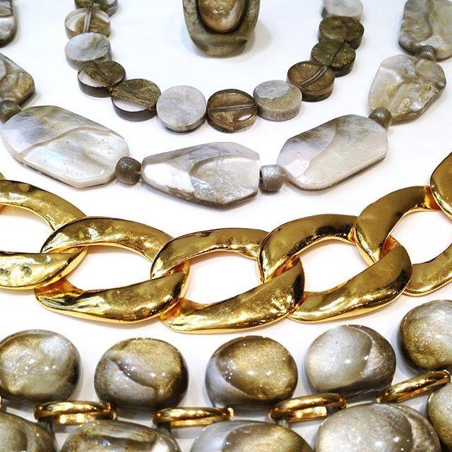 Gold meets Dune  #renaissance #collection #fw1617 #dominiquedenaive #paris #resin #handmade #hautefantaisie  #golden  #or
