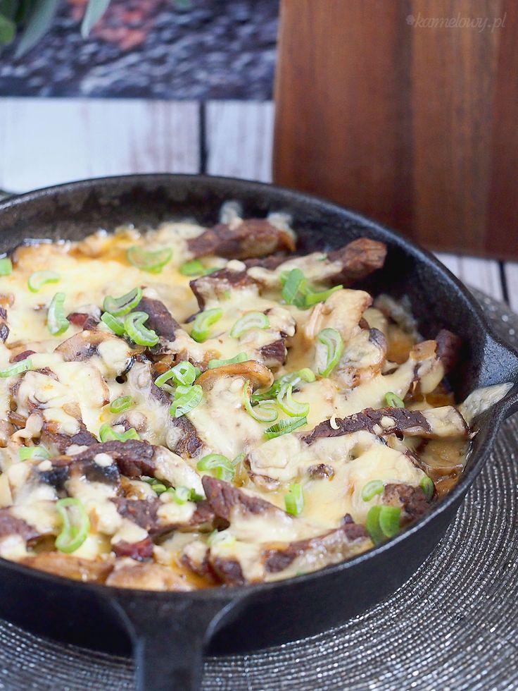 Wołowina zapiekana z serem i pieczarkami / Cheesy mushroom and beef bake