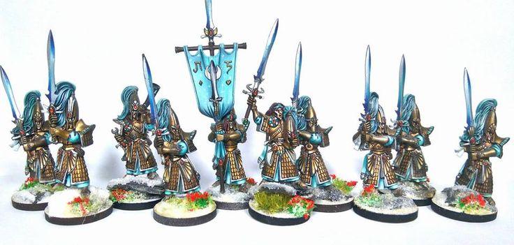 Warhammer Age of Sigmar | Aelfs | Swordmasters #warhammer #ageofsigmar #aos #sigmar #wh #whfb #gw #gamesworkshop #wellofeternity #miniatures #wargaming #hobby #fantasy