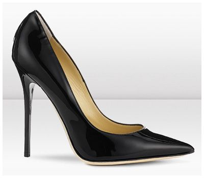 Jimmy Choo Anouk Pointed Toe Stilleto - black patent.  Great with a pencil skirt, skinny or boyfriend jeans