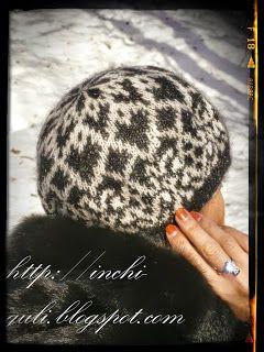 Inchi Knits: Двусторонние жаккардовые шапки/береты