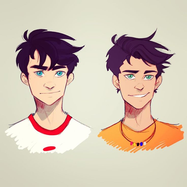 A lot of people have been telling me my Percy and my Danny look alike which is VERY true and I've been meaning to work on that...their descriptions are really similar so it was time I started trying to really flesh them out...you can tell I have a type of favorite character  #percyjackson #dannyfenton