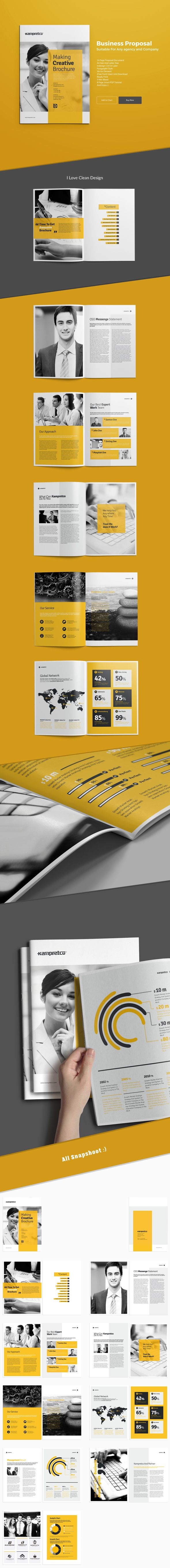 Business Brochure Tempalte suitable for any company22 pages, a4, brochure, business, clean, corporate, corporate brochure, customisable, customize, design, format, free fonts, gray, green, indesign, letter, logo, modern, PDF file, porftolio, print, pr…