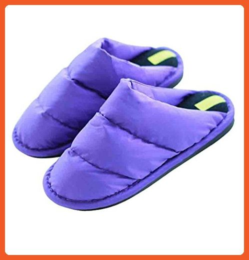 Winter Women's Waterproof Cloth Warm Slippers Indoor Home Slippers Shoes (M(39-40), purple) - Slippers for women (*Amazon Partner-Link)