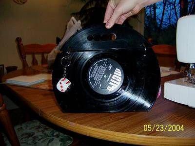 DIY  LP Record Purse!  TUTORIAL
