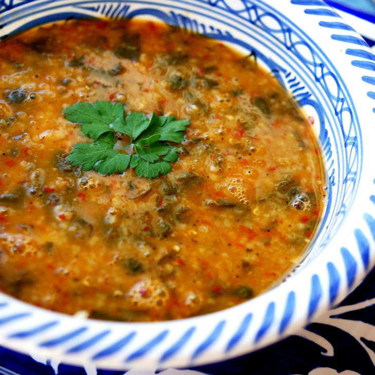Turkish Lentil Soup with Baby Spinach Recipe