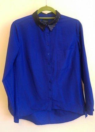 Kup mój przedmiot na #vintedpl http://www.vinted.pl/damska-odziez/koszule/17916909-koszula-indygo-reserved-z-ozdobnym-kolnierzykiem-i-kieszenia