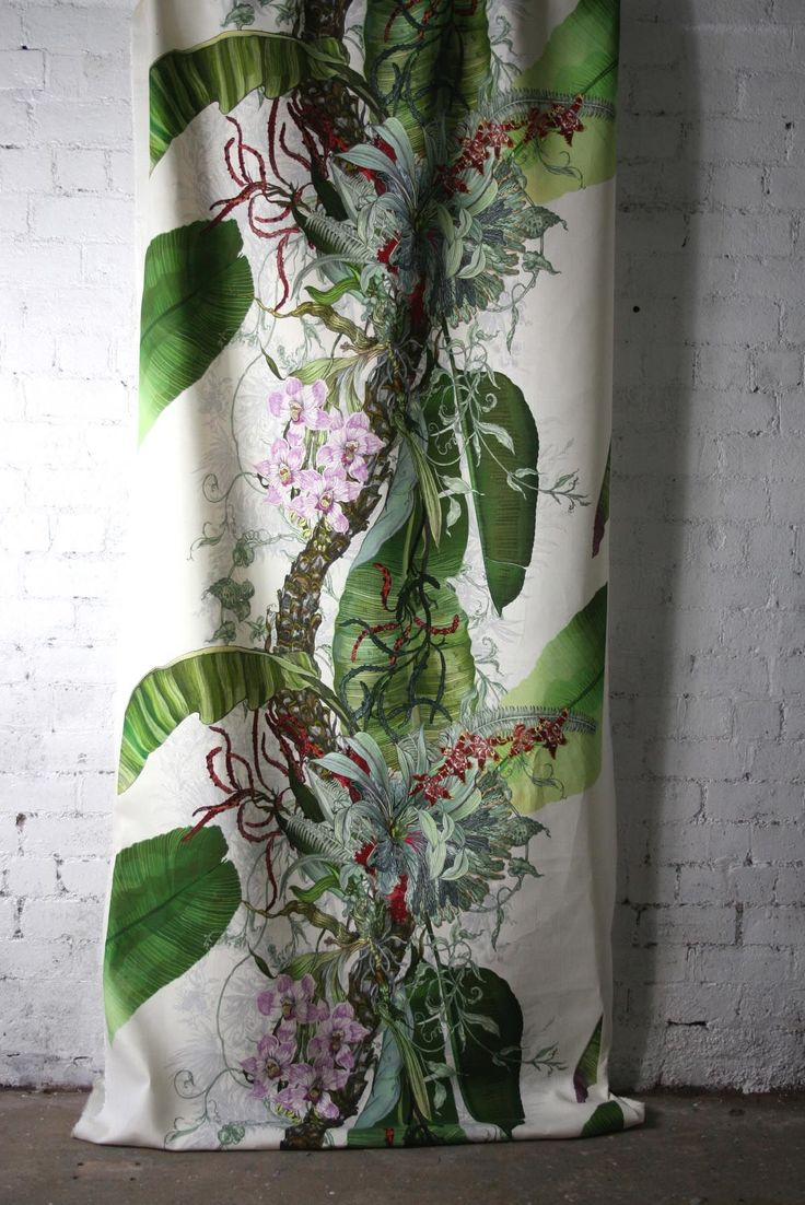 Dining Room curtains Timorous Beasties Fabric - Topical Tropical