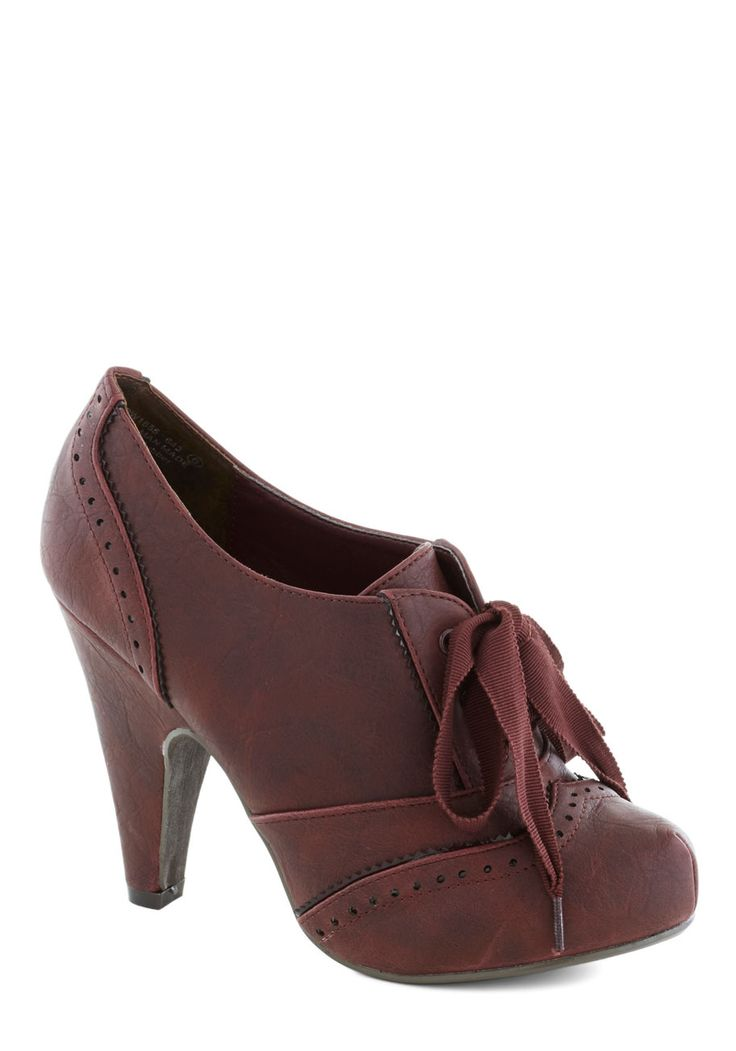 Chaise of Pace Heel in Merlot | Mod Retro Vintage Heels | ModCloth.com