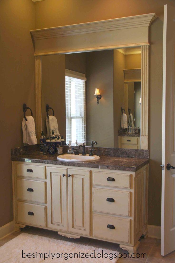 Nice Way To Frame A Bathroom Mirror Bathroom Bathroom