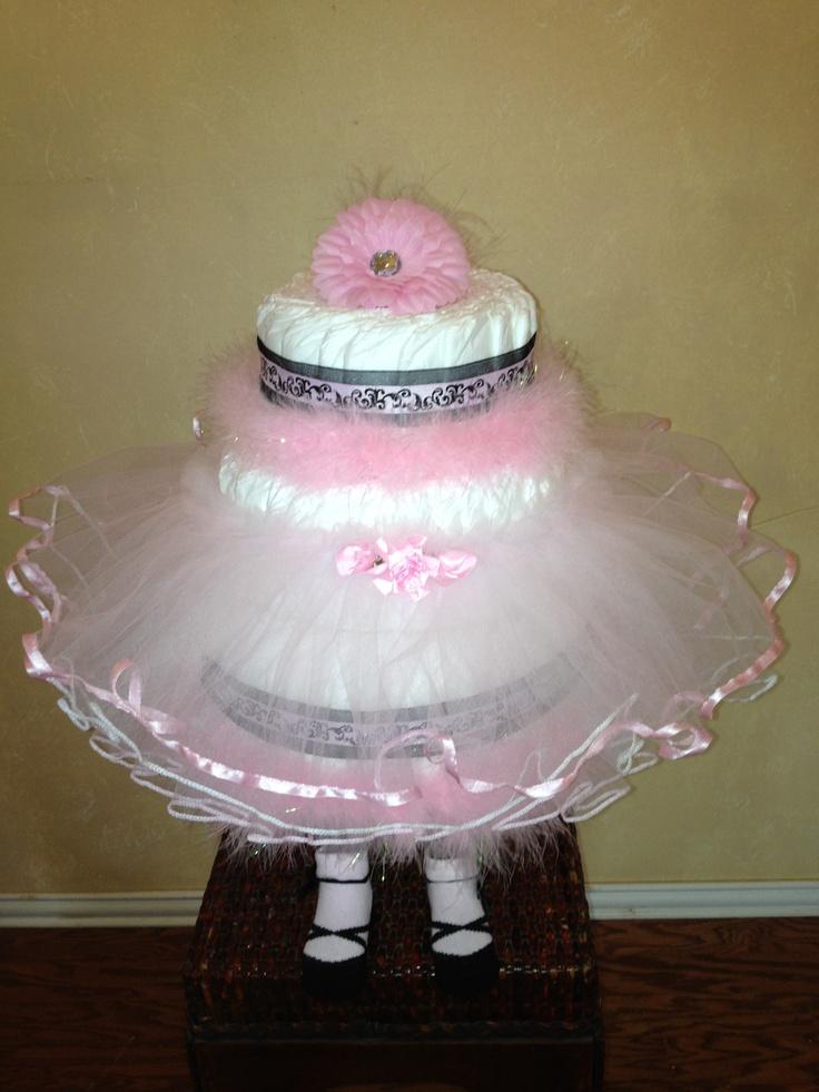 ballerina diaper cake more ballerina diaper diaper cakes