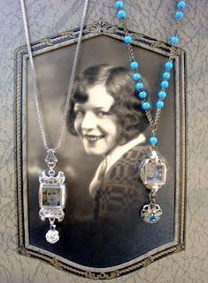 vintage watch faces make into necklace pendants