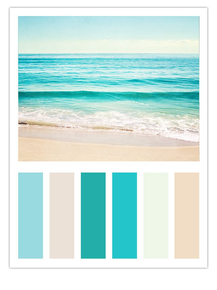 "Teal Beach Color Scheme Inspired by Carolyn Cochrane's Ocean Photograph, ""Summer's Dream"""