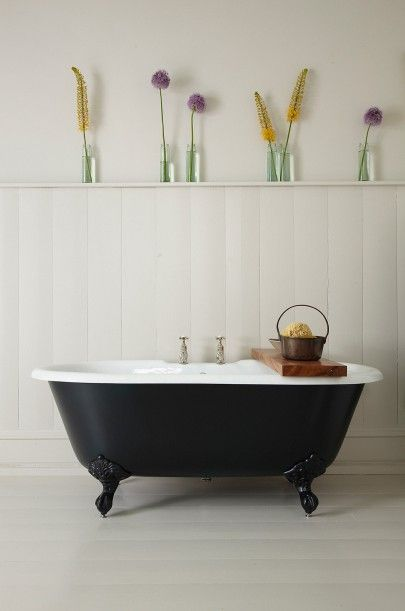 With or without Tapholes - The Petite Millbrook Roll Top Bath (1530x770), a perfect choice for the smaller bathroom. £825.00 including Farrow & Ball paint option on exterior and feet (inc VAT)