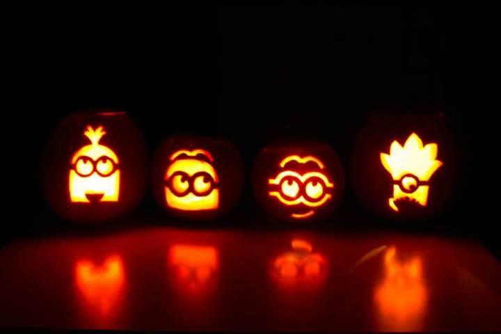 Minion pumpkin stencils halloween pumpkins