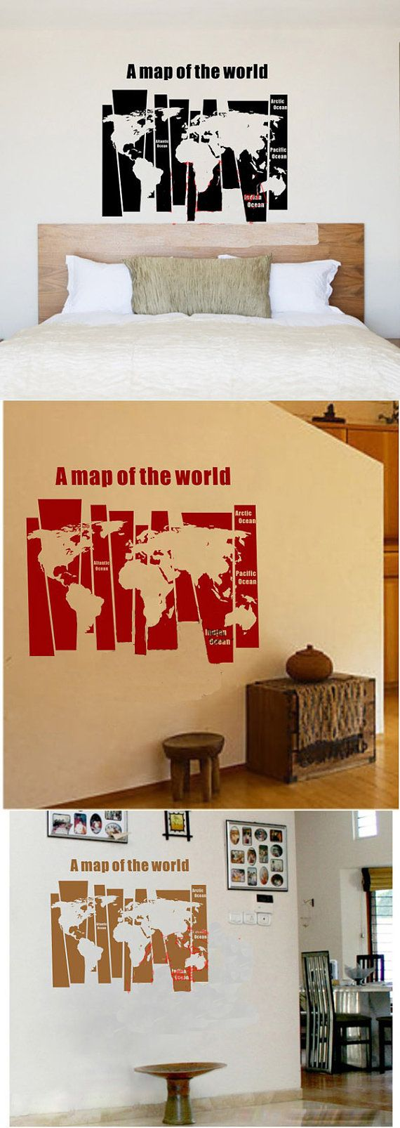 59 best stylecure images on pinterest wall decals bedroom world map wall sticker office wall decals