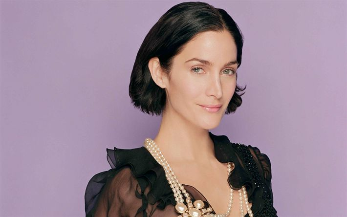 Download wallpapers Carrie Anne Moss, Canadian actress, 4k, smile, photo shoot, portrait