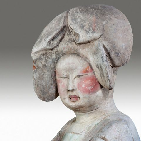 An fine and exceptionally large court lady Tang dynasty 618-907 AD