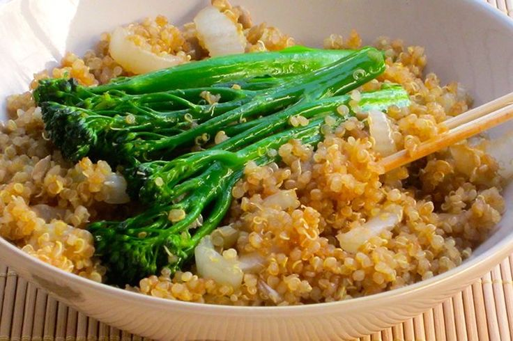 (Use 1 cup cooked quinoa to serve 2) Skinny Quinoa Stir-Fry - This stir-fry is as easy to whip up as it is healthy. Add your favorite protein, and you've got dinner for 2.
