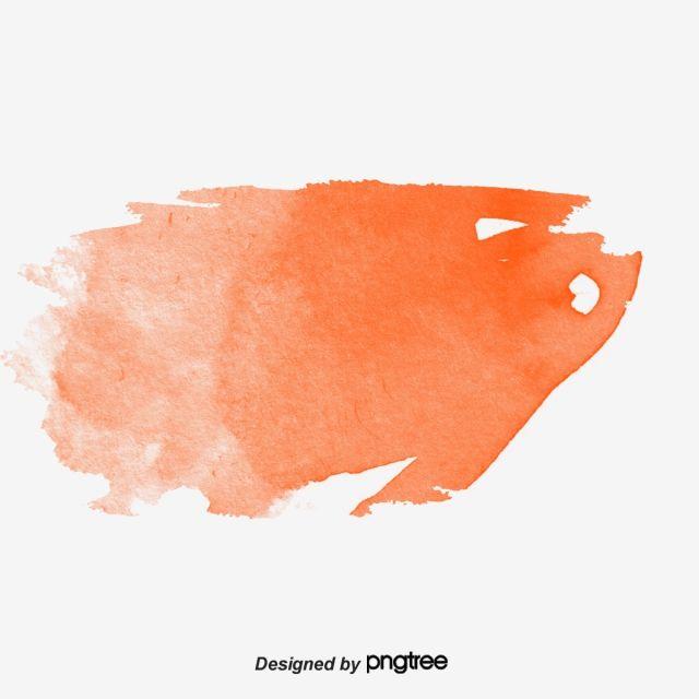 Orange Watercolor Brush Brush Effect Vector Png Brush