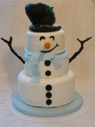 Frosty the Snow Man Cake..