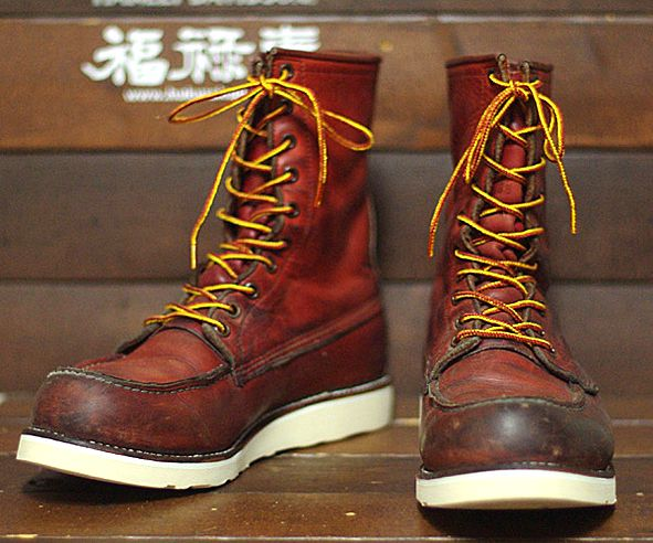 old redwing boots | ... GEAR: BOOT OF THE DAY | #147 | RED WING SHOES VINTAGE RE-SOLED #877