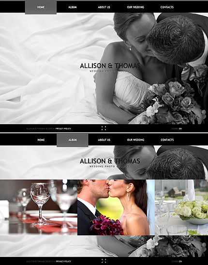 Stylish #Wedding #Photography Web Design Template. Only from www.robotforce.com