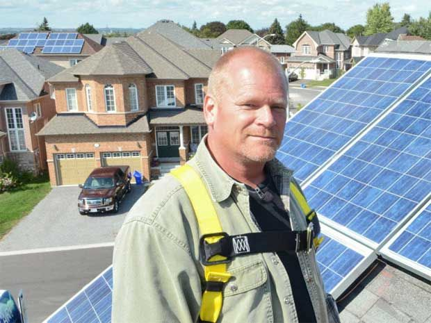 Mike Holmes: Sunny days with solar leasing. Solar tech is expensive, but this company offers solar leasing to install and operate solar power systems on suitable residential homes. #solar