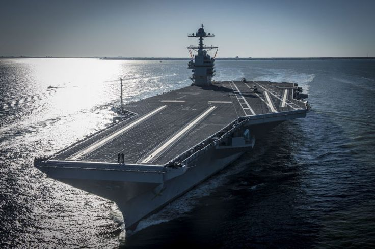 The U.S. Navy's next-generation supercarrier, the future USS Gerald R. Ford (CVN 78), has taken to sea for the first time for several days of builder's trials off Virginia's coast.    The USS Gerald R. Ford (CVN 78) is the first of two ships in the U.S. Navy's next generation aircraft carrier, known as the Gerald R. Ford class. The Ford-class is the first new U.S. aircraft carrier design in 40 years, replacing some of the Navy's Nimitz-class carriers.