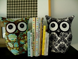 The big-eyed, all seeing, ever knowing bird of prey is the muse motif for Sisterhood Sewing. Check out these Bookend Owls! Available from Young Designers Market.