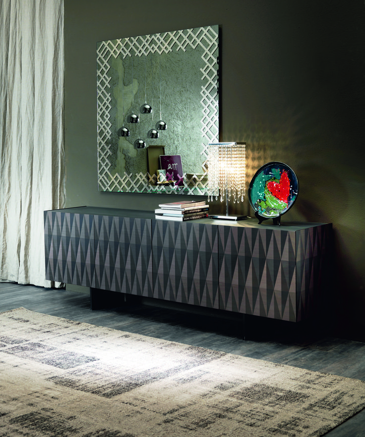 Jersey Mirror By Cattelan Italia Dining Room SideboardDining RoomsItalian StyleArabesqueGeometric PatternsModern FurnitureJoineryIn The UkGraphite