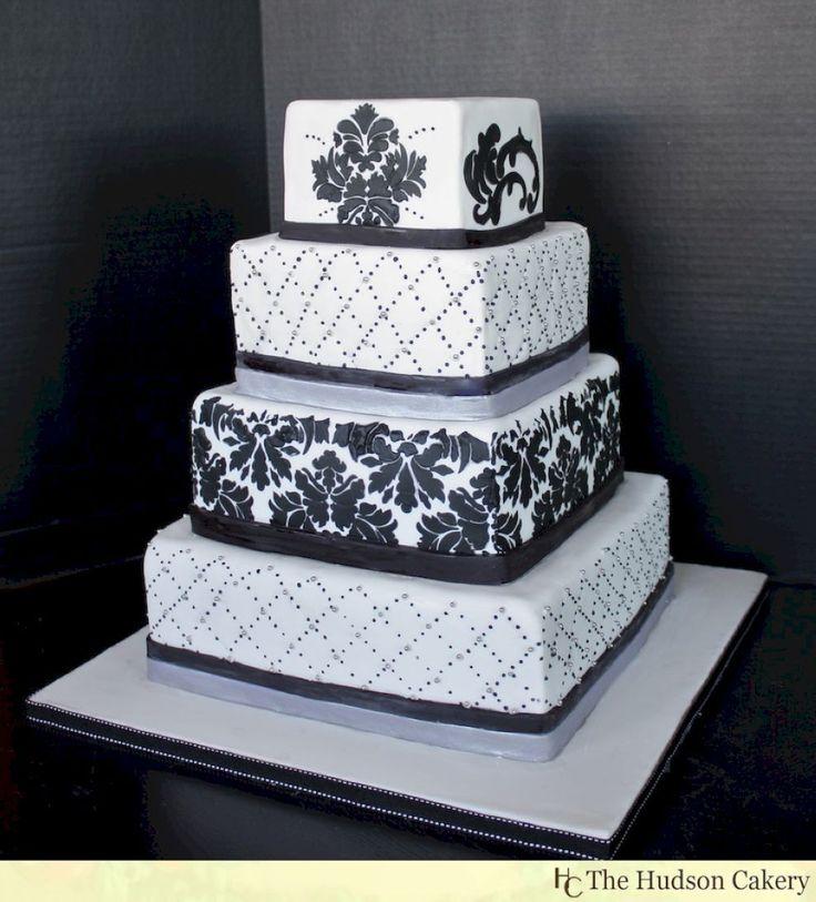 cinderellthemed wedding scroll invitations%0A    Stunning Damask Wedding Cake