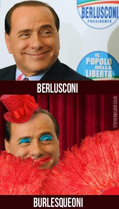 A burly Berlusconi