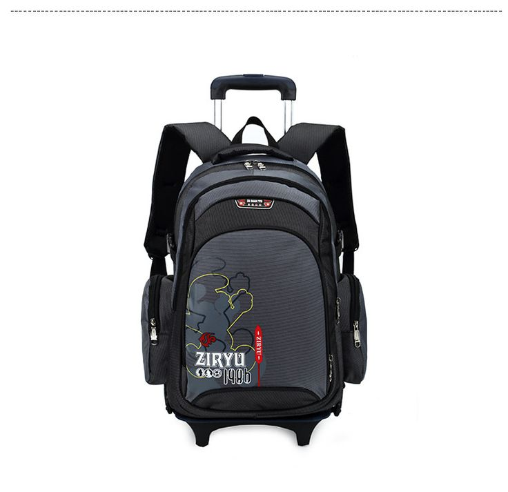 2015 Children School Bags Boys New Multifunction Kids Rolling Trolley School Bag Suitcase Child Backpack Wheel Free Shipping
