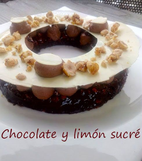 Brownie crujiente de avellana
