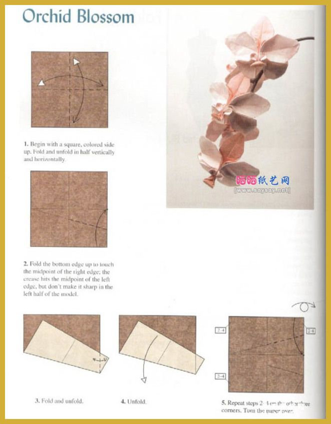 Easy Origami Fun And Easy Origami Instructions For Kids Check Out The Image By Visiting The L Origami Orchid Origami Orchid Instructions Origami Diagrams