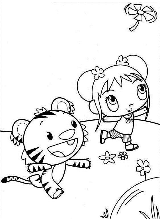 Kai Lan Coloring Pages: introduce your kid to Kai Lan and her friends through these ten beautiful coloring images.