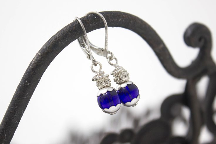 Now selling: Small Drop, Blue and Silver Earrings, with Sterling Silver Lever Backs, Silver Earrings, Something Blue https://www.etsy.com/listing/522357262/small-drop-blue-and-silver-earrings-with?utm_campaign=crowdfire&utm_content=crowdfire&utm_medium=social&utm_source=pinterest