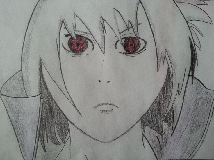 Sasuke Uchiha Mangekyou Sharingan Painting (Naruto Shippuden)    I hope you like this.    http://mertozel.deviantart.com/art/Sasuke-Uchiha-with-Mangekyou-Sharingan-Draw-356703921