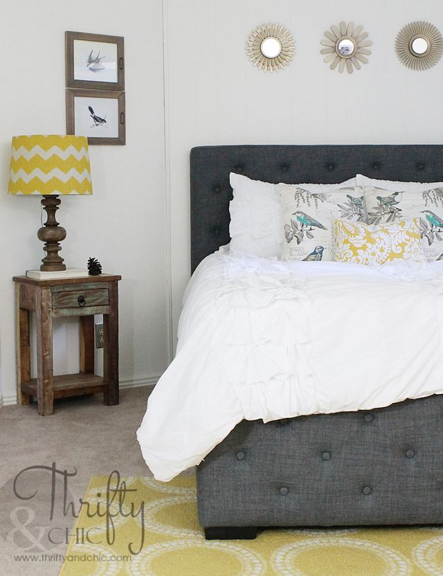 Bedroom Makeover Wood Paneling to White and
