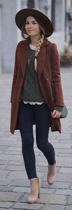 layered earth tones for winter