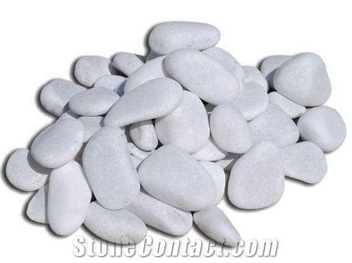 Decorative Type Carrara Marble Pebble Stone