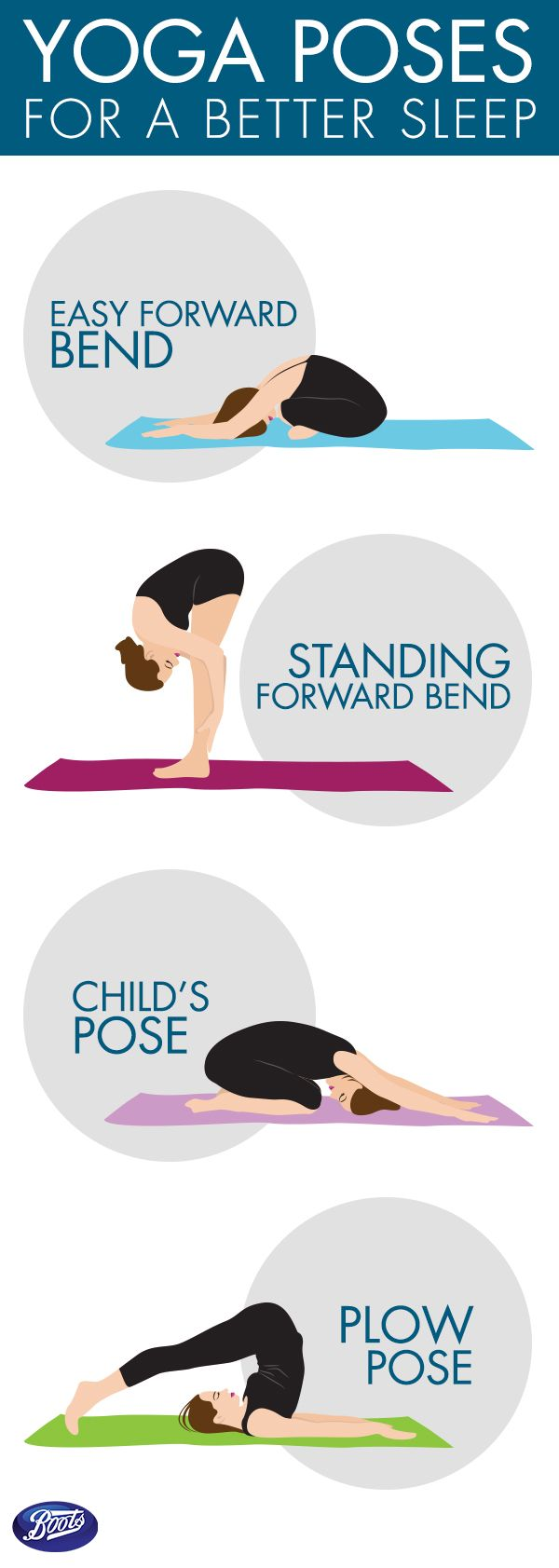 Have trouble falling asleep? Here are 4 simple yoga poses to help you sleep…