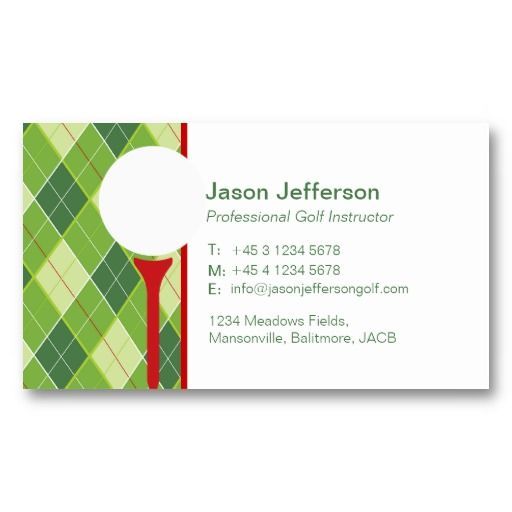 16 best golf instructor business cards images on pinterest golf instructor business cards colourmoves