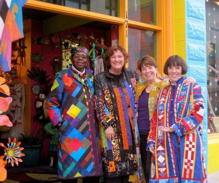 Rachel Clark: professional quilter, designer coats.