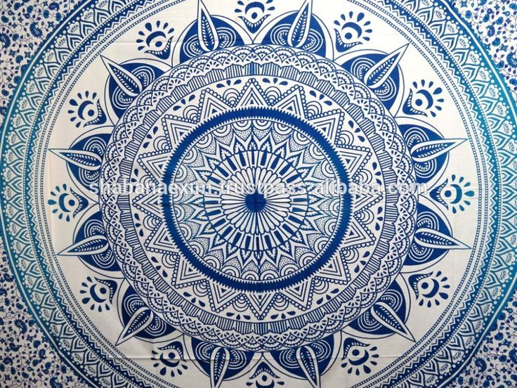 Check out this product on Alibaba.com APP Beach throw Ombre Blue Mandala Indian Tapestry Wholesale