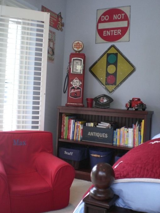 Maxs Vintage Trucks and Stars Room, This is my 3 1/2 year old son Maxs room. He loves trucks cars and everything with wheels. I like anything vintage!, , Boys Rooms Design