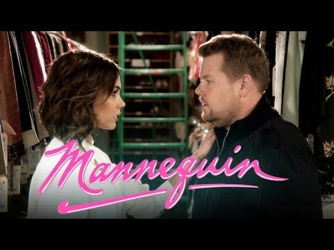 James Corden, Victoria Beckham Perform Spice Girls Carpool Karaoke. 'Late Late Show' host and fashion designer star in hilarious fake reboot of 1987 romantic comedy 'Mannequin'   Rolling Stone
