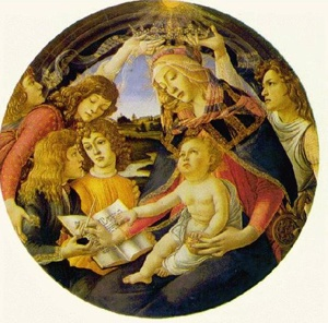 Botticelli: Madonna of the Magnificent  One of my favorite pieces of Florentine artItalian Renaissance, Sandro Botticelli, Florence Italy, La Madonna, Fine Art, Madonna, Art History, Del Magnificat, Renaissance Art